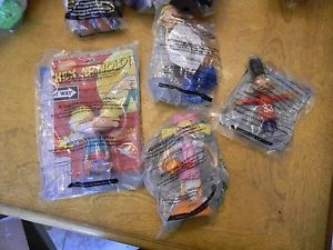 Brand New Set of Wendy's Hey Arnold Kids Meal Toys 4 Pcs SEALED Look