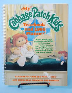 Vintage 1986 CPK Cabbage Patch Kids Yearbook Planner
