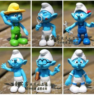 New 12pcs The Smurfs Picnic Action Figure Toy Set 2