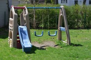 Step 2 Naturally Playful Playhouse Climber Swing Set Slide