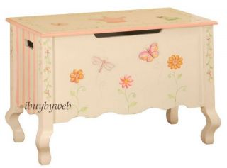Kids Princess Crown Frog Butterfly Pink Toy Chest Box