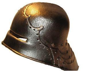 Toy Helmet Medieval Knight Helmet for Kids German Armour Style Salet Helmet