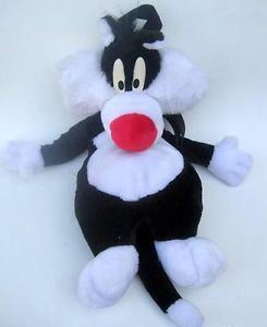 Sylvester Cat Plush Toy Stuffed Figure Looney Tunes Bag Backpack Gift Purse Kids