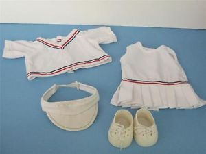 Vtg 1980s Cabbage Patch Kids Clothes Tagged Coleco Tennis Dress Sweater Shoe Lot