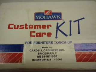 New Mohawk Furniture Repair Kit Maple Spice Sticks Satin Finish Customer Care