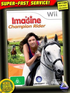 Horse Game for Wii New Champion Rider Equestrian Pony Club Ride Kids Animal Toys