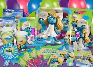 Smurfs Birthday Party Supplies and Favors You Pick