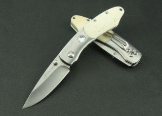 Polar Hero Camel Bone Folding Pocket Knife Camping Hunting Fishing Best Buy