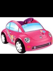 Power Wheels Barbie Volkswagen Beetle Bug Car Christmas Present Gift Pink Girl