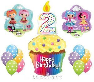 2nd Birthday Lalaloopsy Balloons Party Supplies Cupcake Rag Doll Girl Sew Second