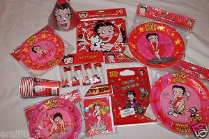 Betty Boop Party Supplies Plates Cups Hats Banners U Pick Your Choice