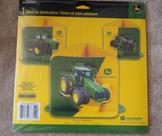 New in Package John Deere Stand Up Centerpiece Tractor Green Table Party Supply