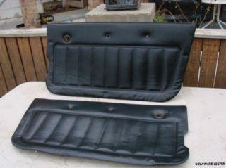 1982 to 1986 Jeep CJ7 CJ Black X2 Door Panels Pair RARE N R
