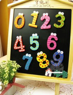 10x Colorful Wooden Number Baby Kids Early Learning Education Magnet Toy Small