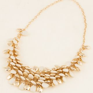 New Fashion Teardrop Beads Gold Plated Bib Necklace Hot A1509