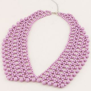 New Lady's Candy Color Fabric Beads Bib Collar Choker Necklace U Picks FA A1484