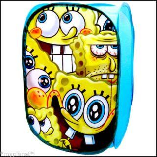 Nickelodeon Spongebob Squarepants Pop Up Room Tidy Kids Storage Bin Basket New