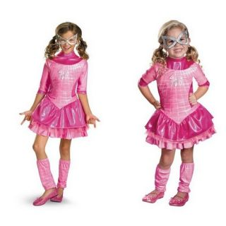 Spidergirl Pink Deluxe Dress Petticoat Leg Warmers Party Costume for Girls