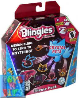 Blingles Theme Pack Crystal Pets Girls Kids Craft Kit