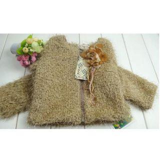 Pretty Baby Toddler Kids Girls Faux Fur Floral Coat Winter Warm Jacket