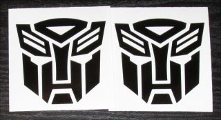 "Transformers Autobot Bumblebee Logo Symbol Vinyl Decal 2 3"" Gloss Black"