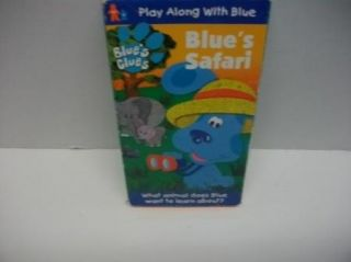 Blue's Clues Blue's Safari Kids VHS Blue Dog Cartoon Video Tape