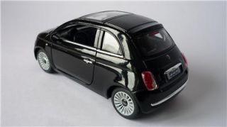 Boys Girls Toy Model Diecast 1 28 Black Fiat 500 Car Opening Doors Present New