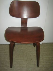Vintage Mid Century Modern Bentwood Chair Thonet Eames Era Bent Plywood Wood