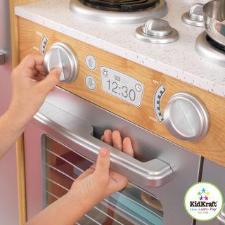Big Fun Kids Kidcraft Girls Toy Kitchen Play Center Gift Pretend Cook Set Wood