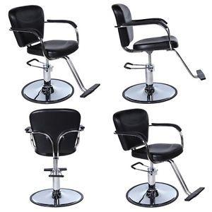 4 x Black Beauty Salon Equipment Hydraulic Hair Styling Chair Package SC 40
