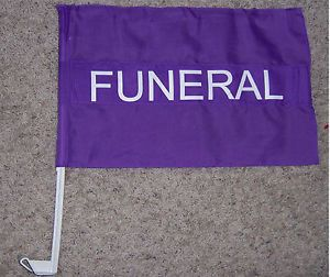 Funeral Procession Flag for Hearse Coach Car Limo Home Cemetery Livery Sign FBI