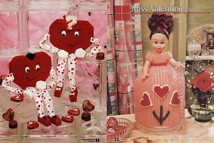 Plastic Canvas Valentine Doll Heart Shelf Sitter Chair Birthday Clown Pattern