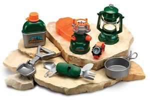 Kids Fun Camping Set w Stove Lantern Childs 9 Piece Pretend Play Toy 3 6 Yrs