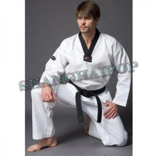 White Taekwondo Uniform Martial Arts Student Kids Karate Cotton Dan DOBOK Poom