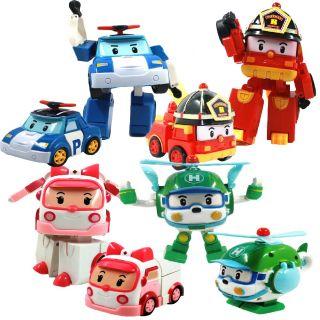 Robocar Poli Transforming Robot Toys Poli Roy Helly Amber Set 4 Pcs Set