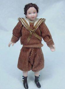 "Dollhouse Miniature Porcelain Doll 1 12 Scale 4"" Young Boy Last Stock D124"