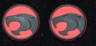 Set of 2 Matching Thundercats Classic Cartoon Logo Rubbery Shoe Charm Jibbitz