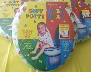 Baby Potty Training Toilet Seat Bathroom Soft Portable Kids Toddler Girls New
