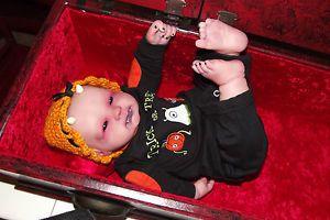 OOAK Goth Halloween Demon Baby Horror Art Doll