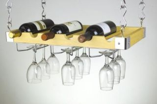 Concept Housewares WR 40526 Wine Bottle Glass Ceiling Wall Mount Wine Rack