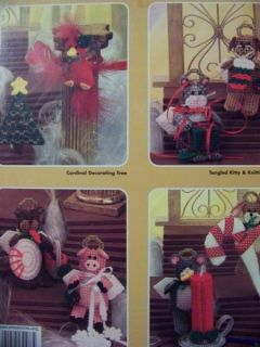 Cute Critter Christmas Ornaments Plastic Canvas Pattern Books