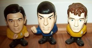 3 Star Trek Burger King Talking Collectible Toy Figures Chekov Spock Sulo