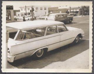 Car Photo Polaroid 1961 Ford Wagon 1955 Chevy 210 Chevrolet 866497