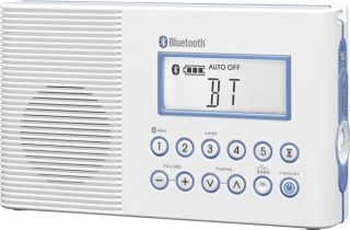 Wireless Bluetooth Waterproof Shower Speaker w Am FM for iPad iPhone Andoorid