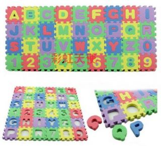 Foam Alphabet Letter Number Floor Mat Education Puzzle Toy for Kids Children