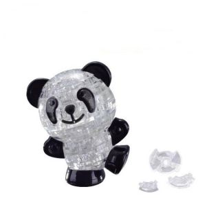 3D DIY Lovely Panda Crystal Jigsaw Puzzle IQ Toy Game Cute Kids Gift