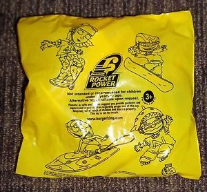 2002 Nickelodeon Rocket Power Burger King Big Kids Meal Toy Yellow Package