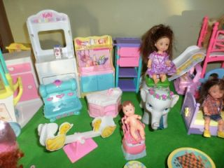Kelly Doll Friends Bedroom Playroom Table Chairs w Lil Playground Lot VHTF