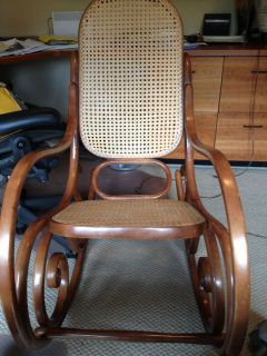 Antique Thonet Rocking Chair No 10 with Original Thonet Imprint