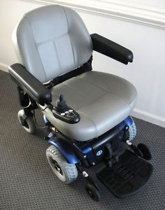 Pride Jet 3 Electric Wheelchair Power Mobility Chair Blue Low Back